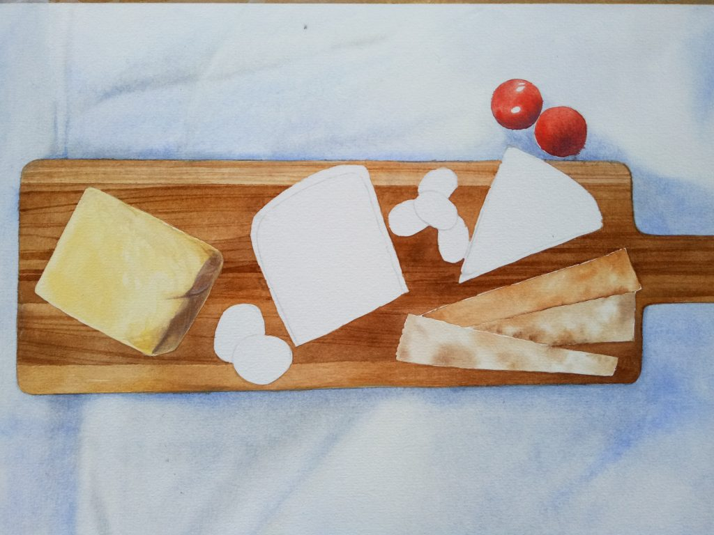 Cheese Board Illustration